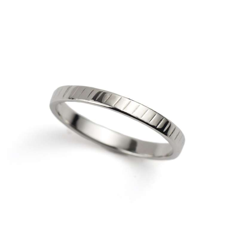 Platinum 2.5mm Flat Wedding Band